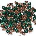 Tri-Bead - 4,5 mm - Emerald Capri Gold -  5 gram