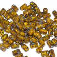 Rulla Bead - 5x3 mm - Lemon Picasso - 10 gram
