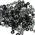 O-Bead - 3,8 mm - Jet Chrome -  5 gram