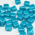 Silky Bead - 6x6 mm - Pastel Aqua - 40-pack