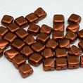 Silky Bead - 6x6 mm - Crystal Bronze Fire Red - 40-pack