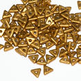 Tri-Bead - 4,5 mm - Brass Gold -  5 gram