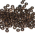 O-Bead - 3,8 mm - Jet Bronze -  5 gram