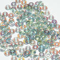 O-Bead - 3,8 mm - Crystal Blue Rainbow -  5 gram