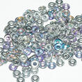 O-Bead - 3,8 mm - Crystal Silver Rainbow -  5 gram