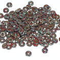 O-Bead - 3,8 mm - Opaque Red Picasso -  5 gram