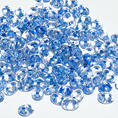 SuperDuo - 5x2,5 mm - Crystal Blue Lined - 10 gram