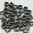Silky Bead - 6x6 mm - Jet Chrome Full - 40-pack