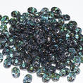 SuperDuo - 5x2,5 mm - Crystal Blue Luster - 10 gram